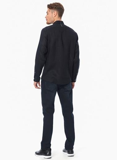 Que Slim Fit Uzun Kollu Gömlek Siyah